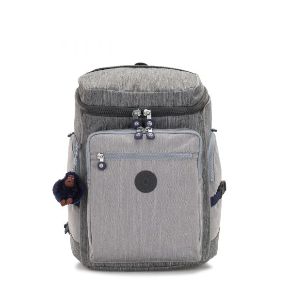 UPGRADE Ash Denim Bl BACKPACKS by Kipling Front