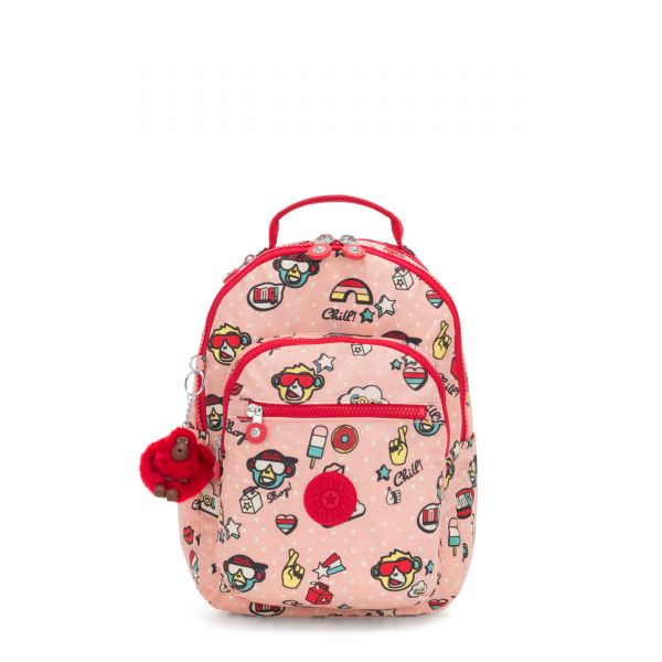 SEOUL GO S Monkey Play BACKPACKS by Kipling Front