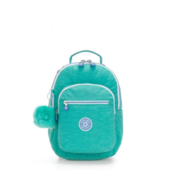 SEOUL GO S Deep Aqua C BACKPACKS by Kipling Front