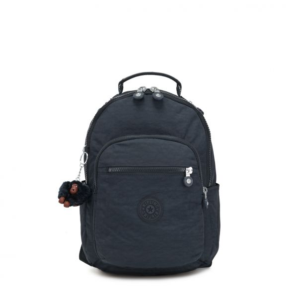 SEOUL GO S ESSENTIAL True Navy BACKPACKS by Kipling Front