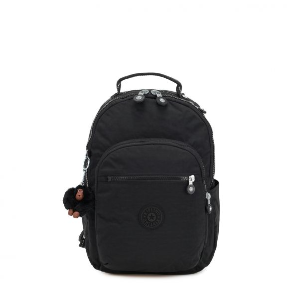 SEOUL GO S ESSENTIAL True Black BACKPACKS by Kipling Front