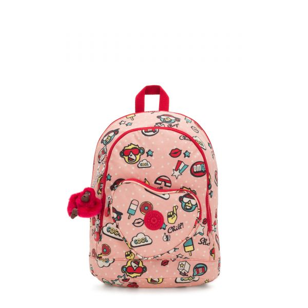 HEART BACKPACK Monkey Play BACKPACKS by Kipling Front