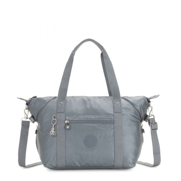 ART Steel Grey Metallic TOTE by Kipling Front