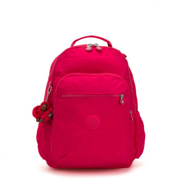 SEOUL GO ESSENTIAL True Pink BACKPACKS by Kipling Front