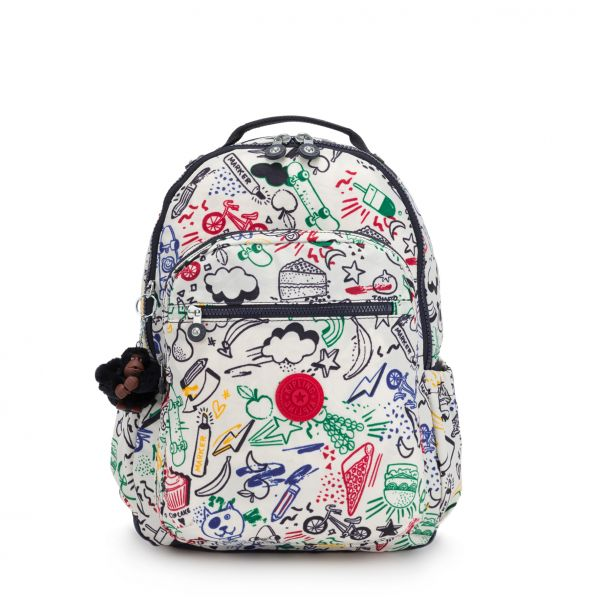SEOUL GO Doodle Play Bl BACKPACKS by Kipling Front