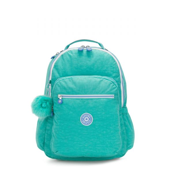 SEOUL GO Deep Aqua C BACKPACKS by Kipling Front