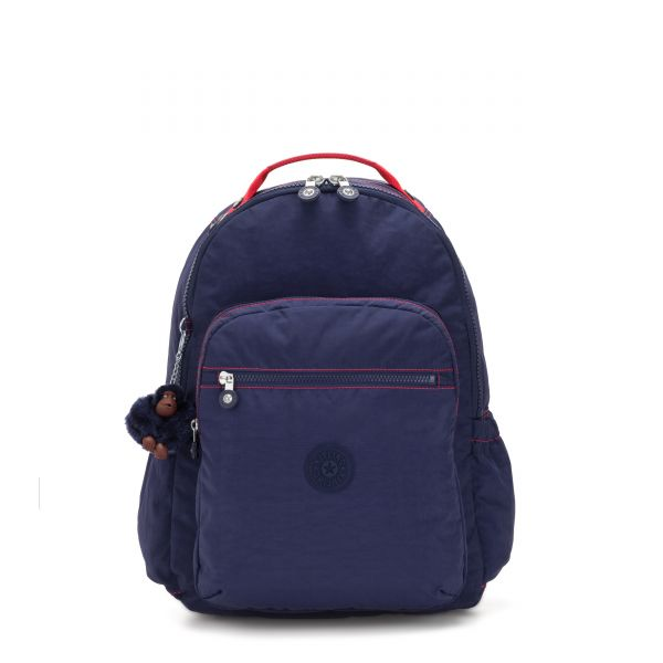 SEOUL GO Polished Blue C BACKPACKS by Kipling Front
