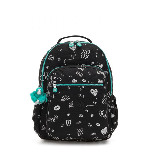 SEOUL GO Girl Doodle BACKPACKS by Kipling Front
