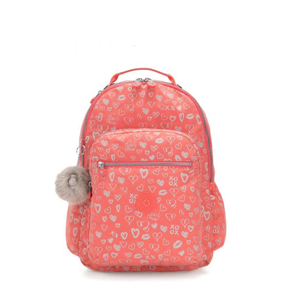 SEOUL GO Hearty Pink Met BACKPACKS by Kipling Front