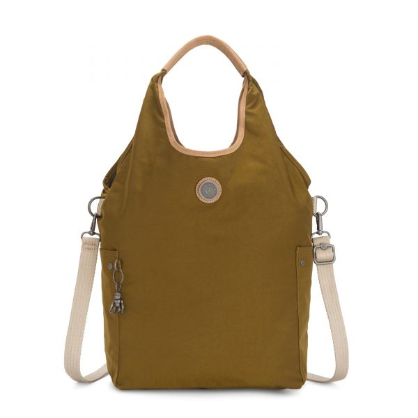 URBANA Mustard Green SHOULDERBAGS by Kipling Front