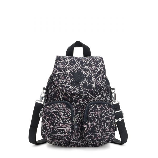 FIREFLY UP Navy Stick Print BACKPACKS by Kipling Front