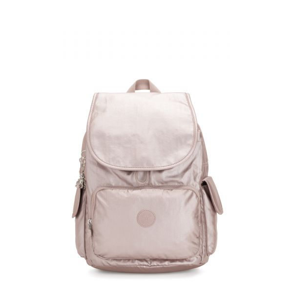 CITY PACK Metallic Rose BACKPACKS by Kipling Front