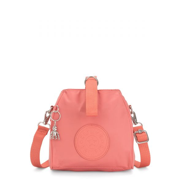 IMMIN Coral Pink SHOULDERBAGS by Kipling Front