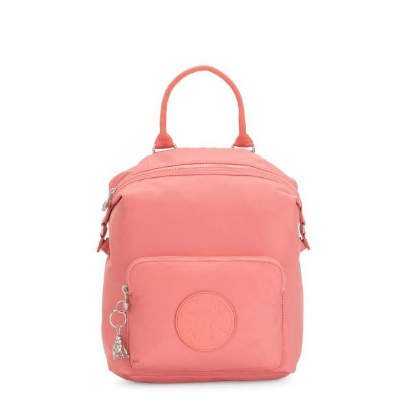 NALEB Coral Pink BACKPACKS by Kipling Front