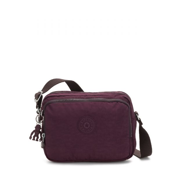 SILEN Dark Plum CROSSBODY by Kipling Front