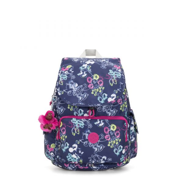 D CITYPACK Doodle Blue BACKPACKS by Kipling Front