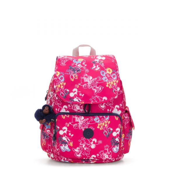 D CITYPACK Doodle Pink BACKPACKS by Kipling Front