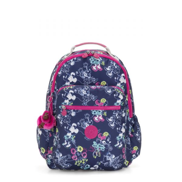 D SEOUL GO Doodle Blue BACKPACKS by Kipling Front