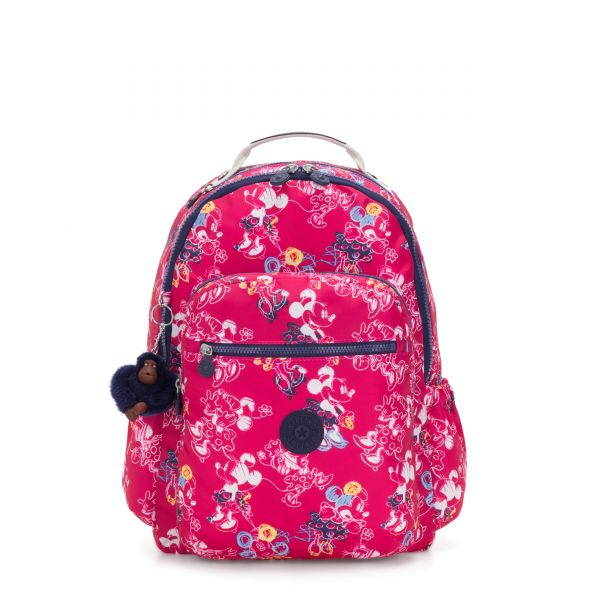 D SEOUL GO Doodle Pink BACKPACKS by Kipling Front