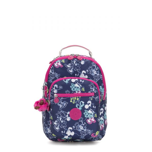 D SEOUL GO S Doodle Blue BACKPACKS by Kipling Front