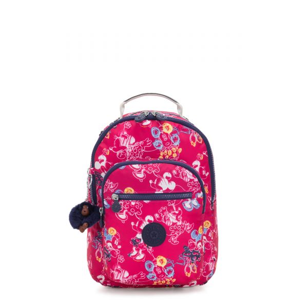 D SEOUL GO S Doodle Pink BACKPACKS by Kipling Front