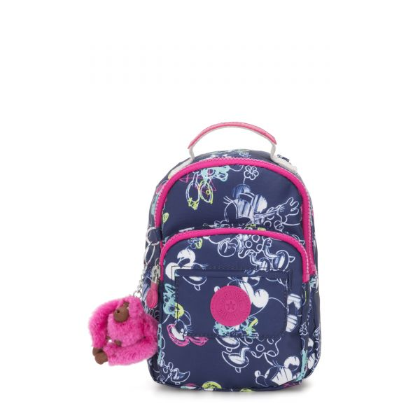 D ALBER Doodle Blue BACKPACKS by Kipling Front