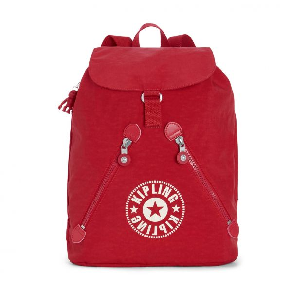 FUNDAMENTAL Lively Red BACKPACKS by Kipling Front
