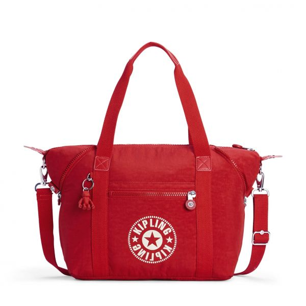 ART Lively Red TOTE by Kipling Front