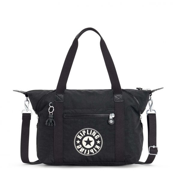 ART Lively Black TOTE by Kipling Front