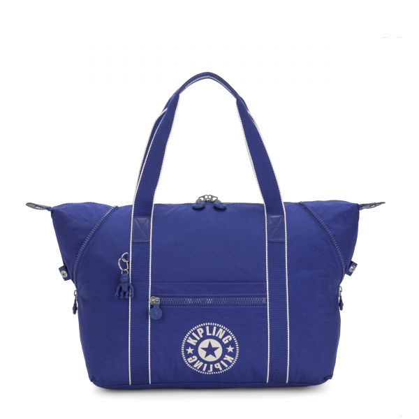 ART M Laser Blue TOTE by Kipling Front