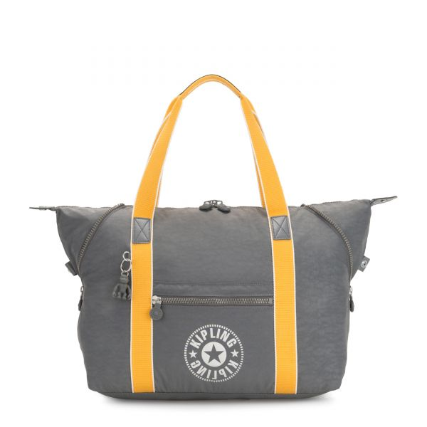 ART M Dark Carbon Yellow TOTE by Kipling Front