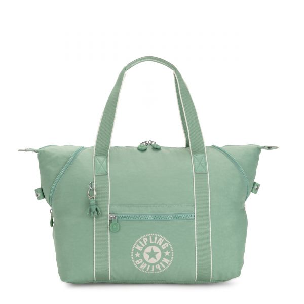 ART M Frozen Mint TOTE by Kipling Front