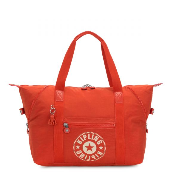 ART M Funky Orange Nc TOTE by Kipling Front
