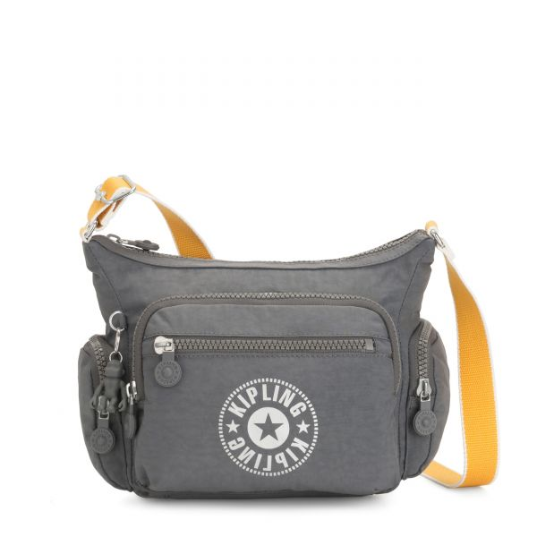GABBIE S Dark Carbon Yellow CROSSBODY by Kipling Front