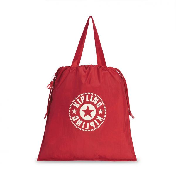 NEW HIPHURRAY L FOLD Lively Red TOTE by Kipling Front