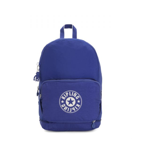 CLASSIC NIMAN FOLD Laser Blue BACKPACKS by Kipling Front