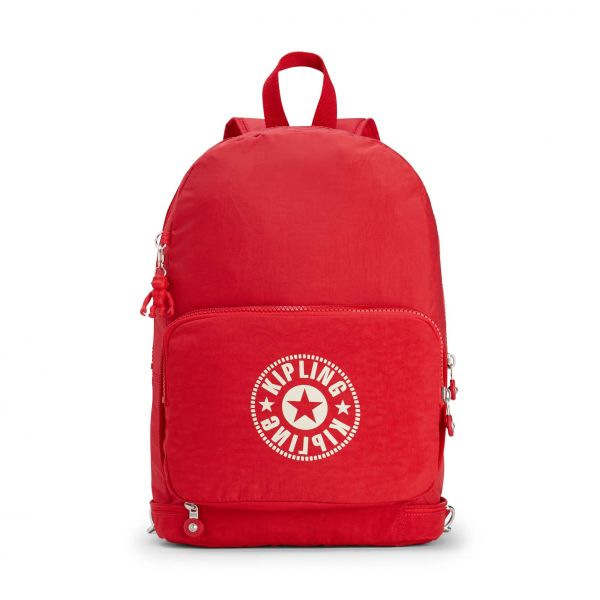 CLASSIC NIMAN FOLD Lively Red BACKPACKS by Kipling Front