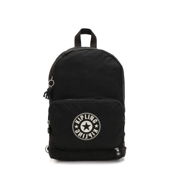 CLASSIC NIMAN FOLD Lively Black BACKPACKS by Kipling Front