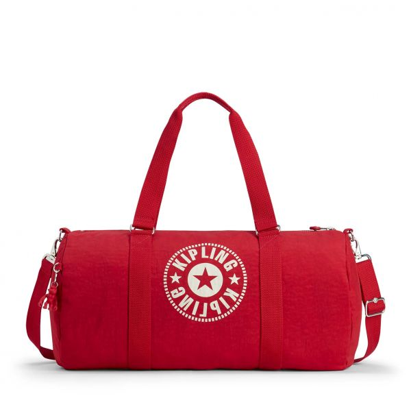 ONALO L Lively Red DUFFLE by Kipling Front