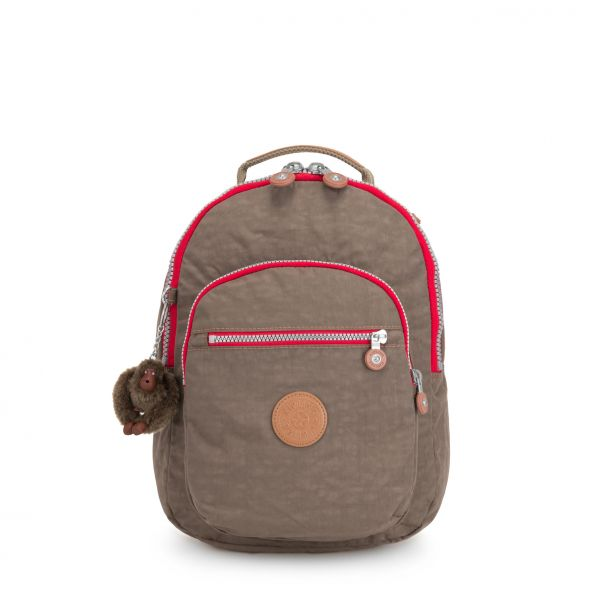 CLAS SEOUL S True Beige C BACKPACKS by Kipling Front