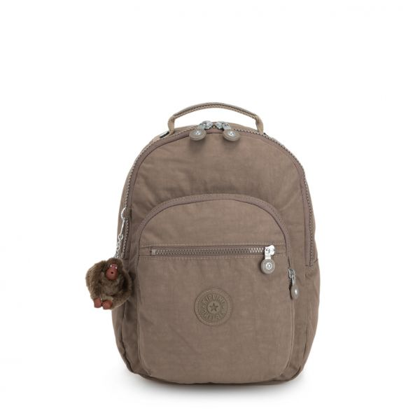 CLAS SEOUL S True Beige BACKPACKS by Kipling Front