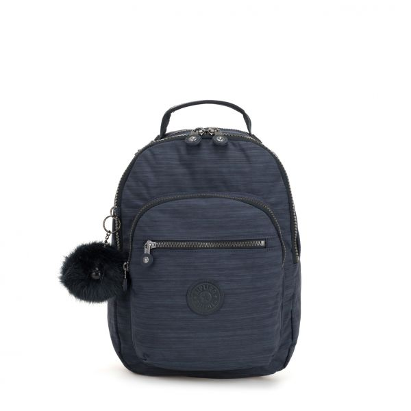 CLAS SEOUL S True Dazz Navy BACKPACKS by Kipling Front