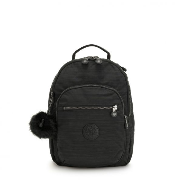 CLAS SEOUL S True Dazz Black BACKPACKS by Kipling Front