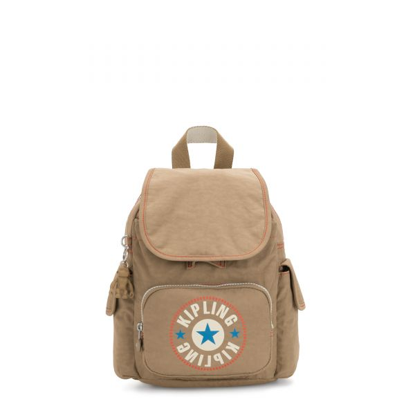 CITY PACK MINI Sand Block BACKPACKS by Kipling Front