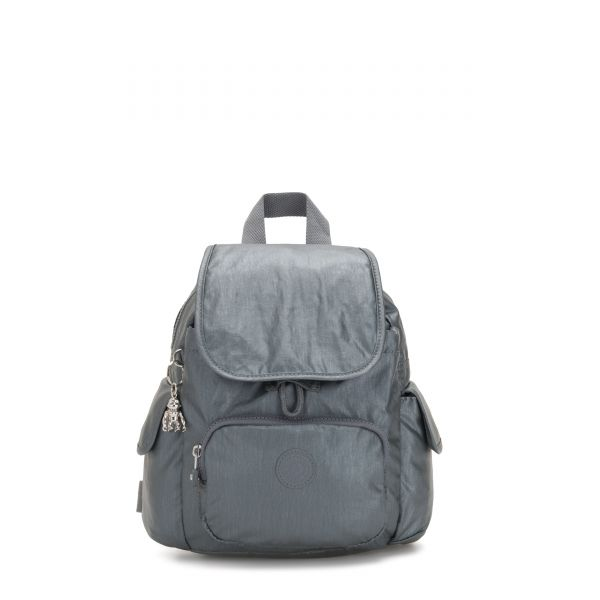CITY PACK MINI Steel Grey Metallic BACKPACKS by Kipling Front