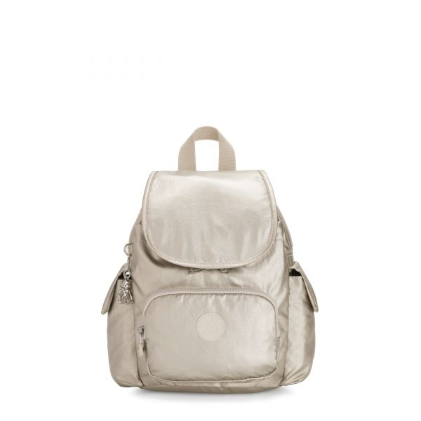 CITY PACK MINI Cloud Metal BACKPACKS by Kipling Front