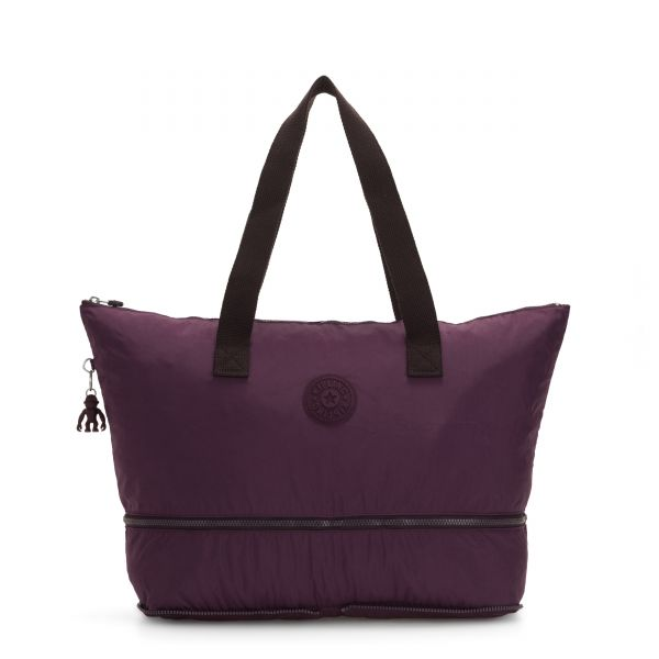IMAGINE PACK Dark Plum TOTE by Kipling Front