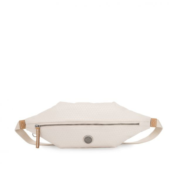 YOKU Triangle White CROSSBODY by Kipling Front