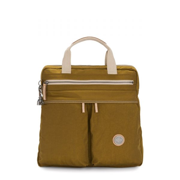 KOMORI S Mustard Green BACKPACKS by Kipling Front
