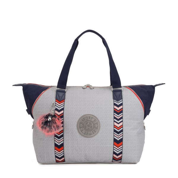 ART M New Grey Emb Bl TOTE by Kipling Front